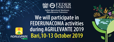 CARON - AGRILEVANTE 2019, Bari (IT) 10-13 October 2019